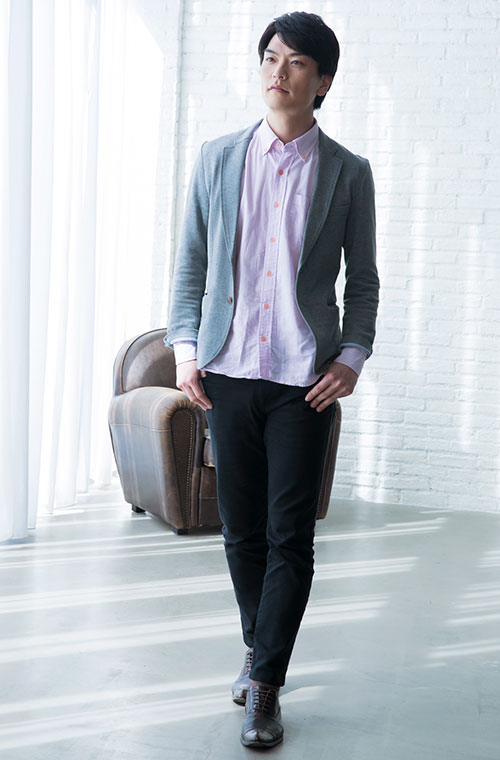 男性の服装例